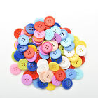 100 PCS 4 Holes* 5 Sizes Round Buttons Clothing Sewing DIY Craft for Kids QWC