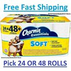 Charmin Essentials Soft Toilet Paper, Bath Tissue, Double Roll, 24 OR 48 Count
