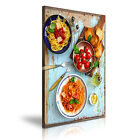 PASTA SPAGHETTI Italian Food Canvas Framed Print Restaurant Deco - More Size