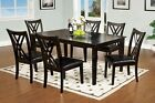 7pc Espresso Transitional Dining Room Funriture Padded & Criss-Cross Back Chairs