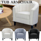 New Designer Fabric Linen Tub Chair Armchair Living Room Dining Office Reception