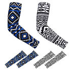 RoryTory 2 Pair Tribal & Tattoo Design Anti-Slip Grip Sports UV Arm Cover Sleeve