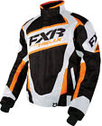 FXR Mens Black Digi/White/Orange Snowmobile Helix Jacket Snocross
