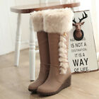 womens black or white or apricot knee high boots winter snow boots shoes size 41