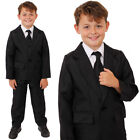 CHILD BLACK SUIT TV FILM FANCY DRESS COSTUME JACKET TROUSERS THEATRE STAGE SHOW
