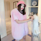 2016 Lady100%Real Fox Fur Jacket Outwear Thick Warm Surcoat Gilet Vest Colorful