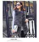 Classic 100% Natural Real Whole Fox Fur Waistcoat Jacket Gilet Vest ClothesV0061