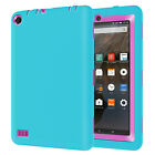 "U.S Rugged Shockproof Hybrid Silicone Defender Case For Amazon Fire 7"" 5th 2015"