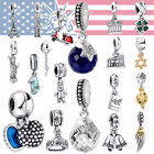 European Charms Beads Crystal Jewelry Pendants Fit 925 Sterling Silver Bracelet