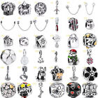 European Silver Charms Beads Pendant Safety Chain Fit 925 sterling Bracelet image