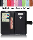 Magnetic Flip Leather Stand Card Wallet Screen Protective Case Cover For LG V20