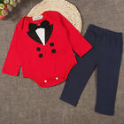 Baby Boys Infant Toddler Long Sleeve Bodysuit Pants Outfit Set 2 Pieces Clothes