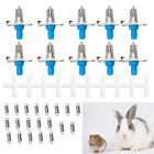 5/10Pcs Automatic Nipple Water Feeder Drinking Trough Waterer Rabbit Rodents New