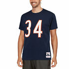 Mitchell & Ness Walter Payton Chicago Bears Navy Name & Number Throwback T-Shirt
