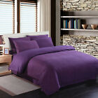 DOUBLE Bed Poly Cotton sheet Fitted Flat Valance Base Duvet Cover & Pillow Cases