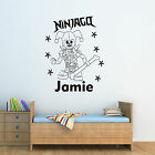 Lego Ninjago Personalised Childrens Wall Sticker Decal, Add Any Text! Design4