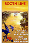 Art print POSTER Booth Line Amazon Portugal Brazil Cruise