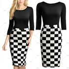 Women Vintage 1950's Style Cocktail Party Casual Work Wear Slim Fit Pencil Dress