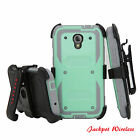 Armor Shockproof Hybrid Hard Stand Phone Holster Case Cover For BLU R1 HD (Old)