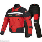 High Quality Men Summer Breathable Motorcycle Riding Racing Locomotive Suit Set