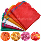 100 NET SACKS WOVEN MESH BAGS VEGETABLES LOGS KINDLING WOOD LOG 40x 64cm -15 kg