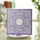 30-Purple Laser Cut out Wedding Invitation Cards Birthday/Greeting Cards