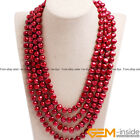 Handmade 8-9mm Cultured Freshwater Pearl Super Long Necklace For Women 80 inch