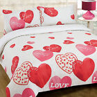 Love Hearts & Hugs Print Duvet Cover -Fun Bedding Set - Trendy Design
