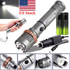 4000LM Zoomable CREE XML T6 LED 18650 Tactical Flashlight Torch Lamp Light Set