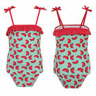 Nifty Kids Girls Tankini Top And Brief Set All Over Watermelon Print Swim Suit