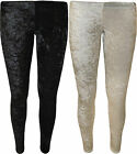 New Womens Velour Velvet Stretch Full Ankle Length Long Ladies Leggings