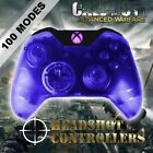 Xbox One/S Clear Blue With Purple LED Rapid Fire Paddle Controller BF1-IW-GOW4