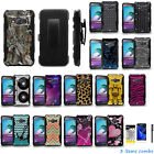 Samsung Galaxy AMP 2 SM-J120A Dual Layer KickStand Holster Case + Film + Pen