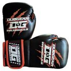 KIDS BLACK 'THAI-GER' BOXING SPARRING PADWORK MUAY THAI TRAINING FIGHTING GLOVES