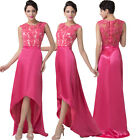 Pink Long Formal WEDDING Bridesmaid Evening Ball Gown Party Prom Maxi Dress
