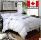 WHITE DOWN DUVET COMFORTER  FILLED IN CANADA