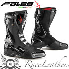 FALCO ESO LX 2.1 BLACK MOTORCYCLE MOTORBIKE SPORTS RACING RACE BOOTS WITH D30