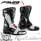 FALCO ESO LX 2.1 ITALY MOTORCYCLE MOTORBIKE SPORTS RACING RACE BOOTS WITH D30