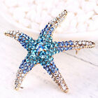 Optional Adorable Blue Crystal Rhinestone Starfish Brooches for women wedding JR