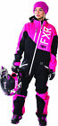 FXR Womens Fuchsia/Black/White Squadron Snowmobile Monosuit Insulated Snocross