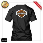 harley davidson new logo racing T shirt high quality back MOTORCYCLE rider