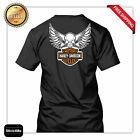 harley davidson skeleton logo racing T shirt high quality back MOTORCYCLE rider
