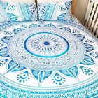 blue ombre mandala bedspread with matching cushions & pillows