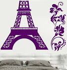 Vinyl Partition Decal France Paris Eiffel Obelisk Bedroom Design Stickers (791ig)
