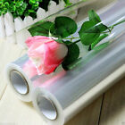 100 metre PLAIN. Transparent Clear Cellophane Roll Hamper Flower Gift Wrap Film