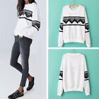 Fashion Womens Long Sleeve Girls Pullover Jumper loose Top Casual Sweatshirt New