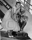 1957 Miss Universe Gladys Zender Long Beach Ca Eastern Airlines Historical Photo