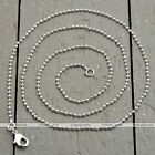 1 Strand Silvery White Gold Ball Chain Link Necklace Fit Jewelry Pendant Fashion