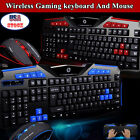 2.4G Wireless Gaming keyboard and Mouse Set For PC Computer Notebook Gamer Hot