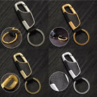 1 Piece Hot Selling 4 Colors Creative Car Keyring Metal Faux Leather Keychain Gi